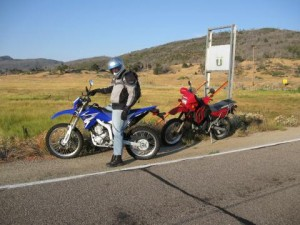 Elden and his WR250R enjoying  another great riding day!