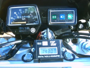 World's Only TW200 equipped with  a Top Gun tachometer!
