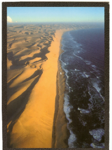 """The Long Wall"" dunes along the  Skeleton Coast of Nambia"
